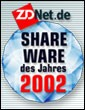 zdnet shareware 2002 award